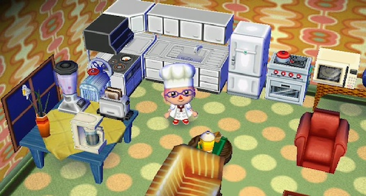 The animal crossing kitchen erin cooks for Extension maison animal crossing wild world