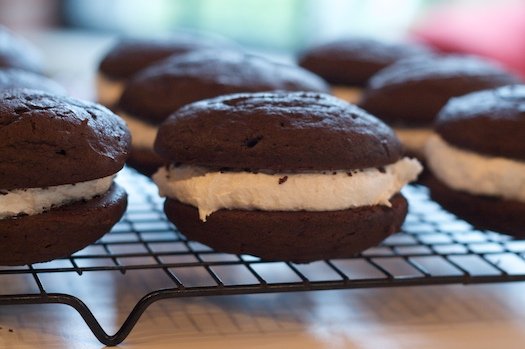 Classic Chocolate Whoopie Pies with Marshmallow Filling — Erin Cooks