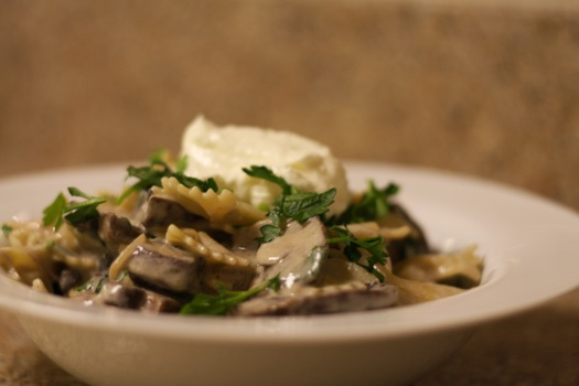 Mushroom Stroganoff with FAGE Yogurt